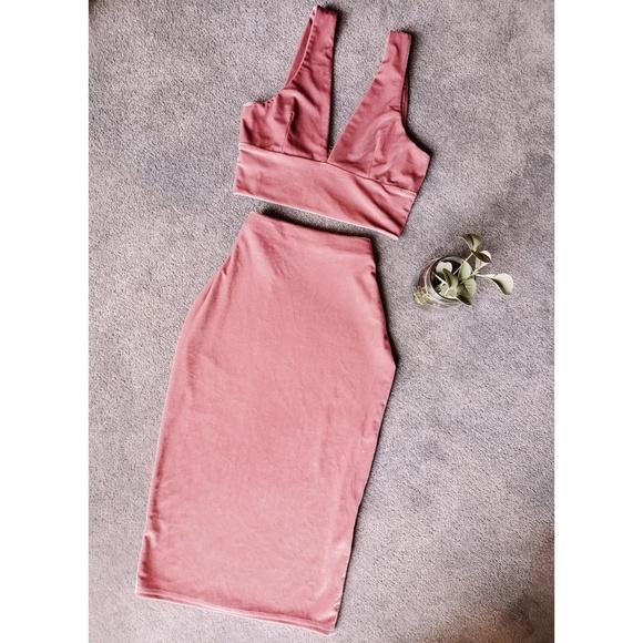 Missguided Dresses & Skirts - Pink Velvet Set